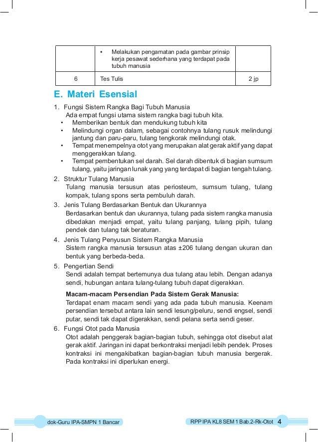 • Melakukan pengamatan pada gambar prinsip  kerja pesawat sederhana yang terdapat pada  tubuh manusia  6 Tes Tulis 2 jp  E...