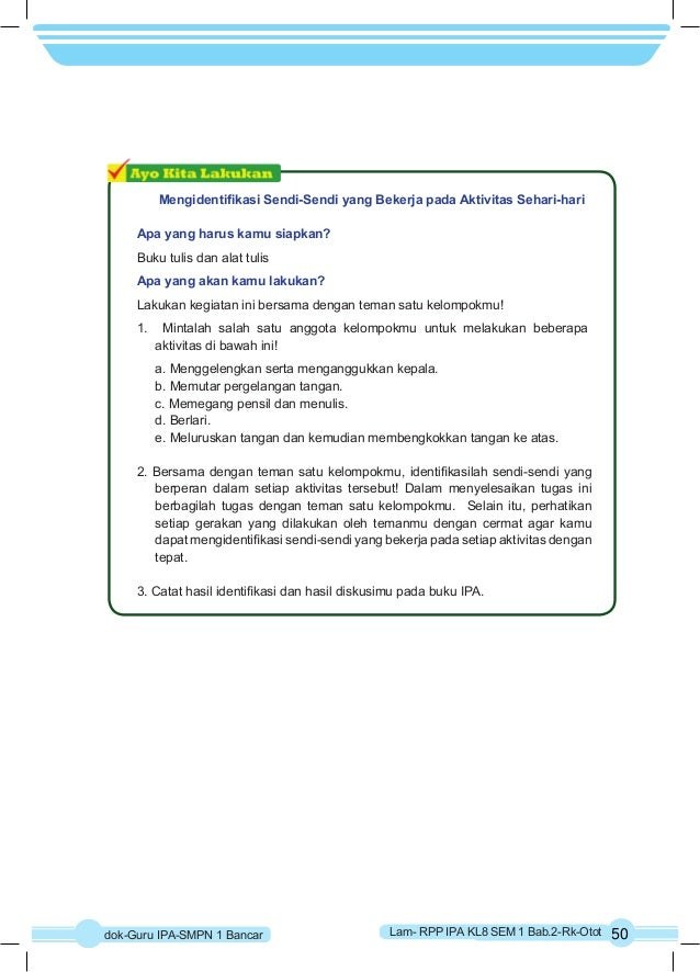 Mengidentifikasi Sendi-Sendi yang Bekerja pada Aktivitas Sehari-hari  Apa yang harus kamu siapkan?  Buku tulis dan alat tu...