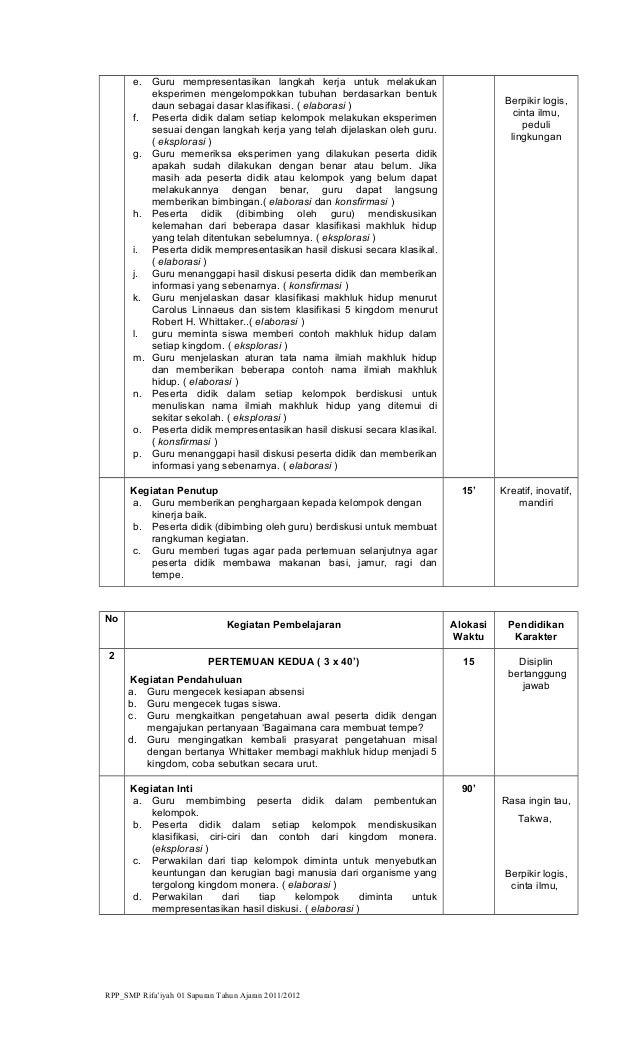 RPP KKPI SMK + Karakter Kelas XI Thn 2011-2012