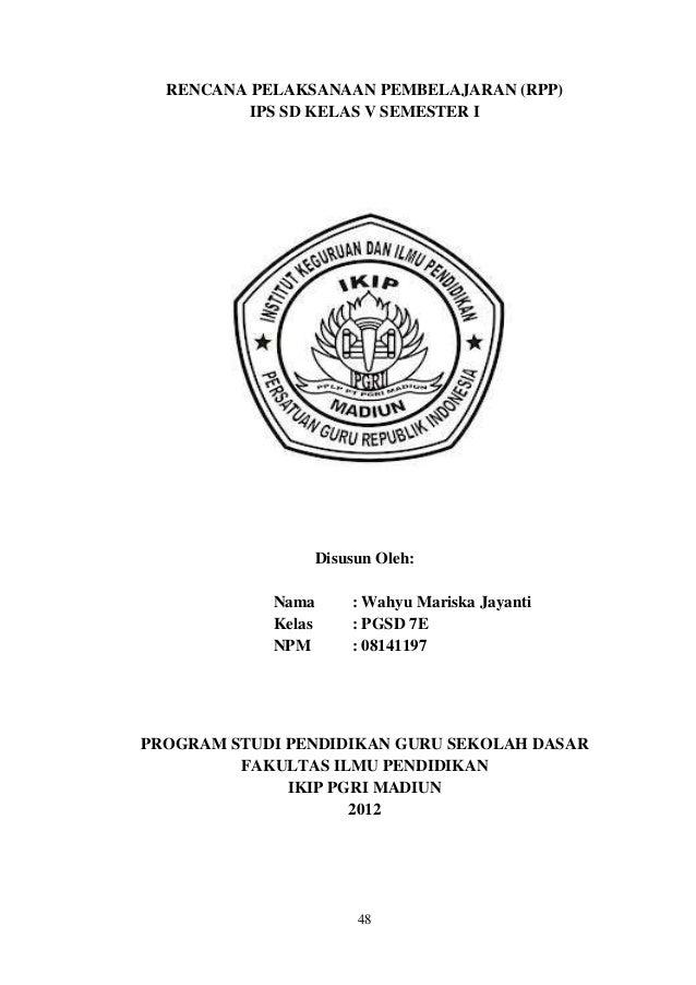 Lampiran Rpp Ips Proposal Ptk Wahyu Mariska J 08141197 Pgsd 7e