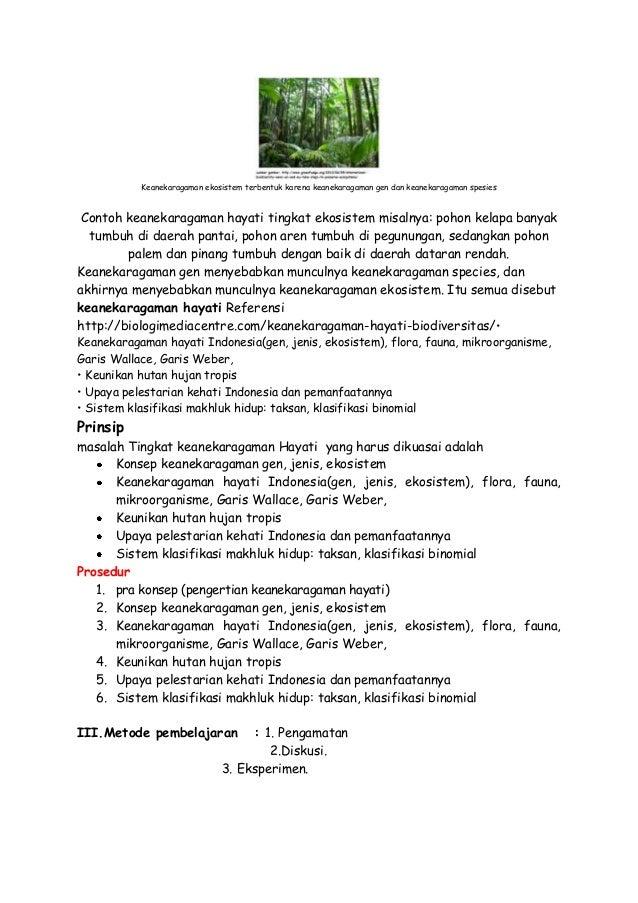 Rpp Biologi Kelas X Ipa Keanekaragaman Hayati