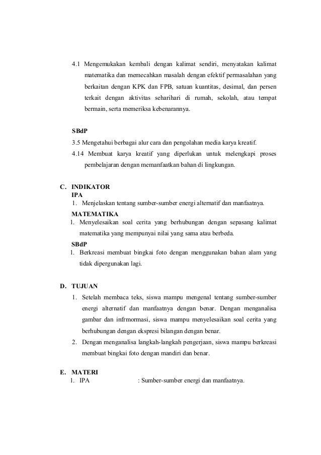 Rpp Kelas 4 Tema 2 Subtema 2 Pembelajaran 2