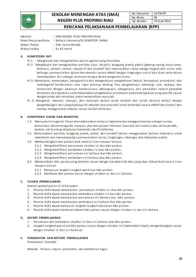 Rpp Bahasa Indonesia Sma Kelas Xi Kurikulum Rpp Kelas Xi Sma Kurikulum 2013 Rpp Bahasa Inggris