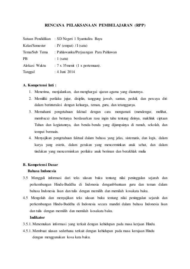 Rpp Kls Iv Tema 5 Subtema 1 Pb 1