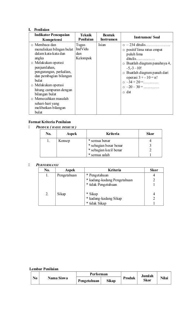 Rpp Matematika Kelas 5 Semester 1 2