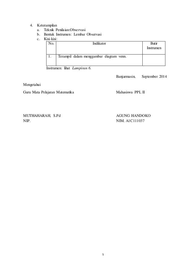 Rpp menyajikan himpunan dan diagram venn kurikulum 2013 5 ccuart Image collections