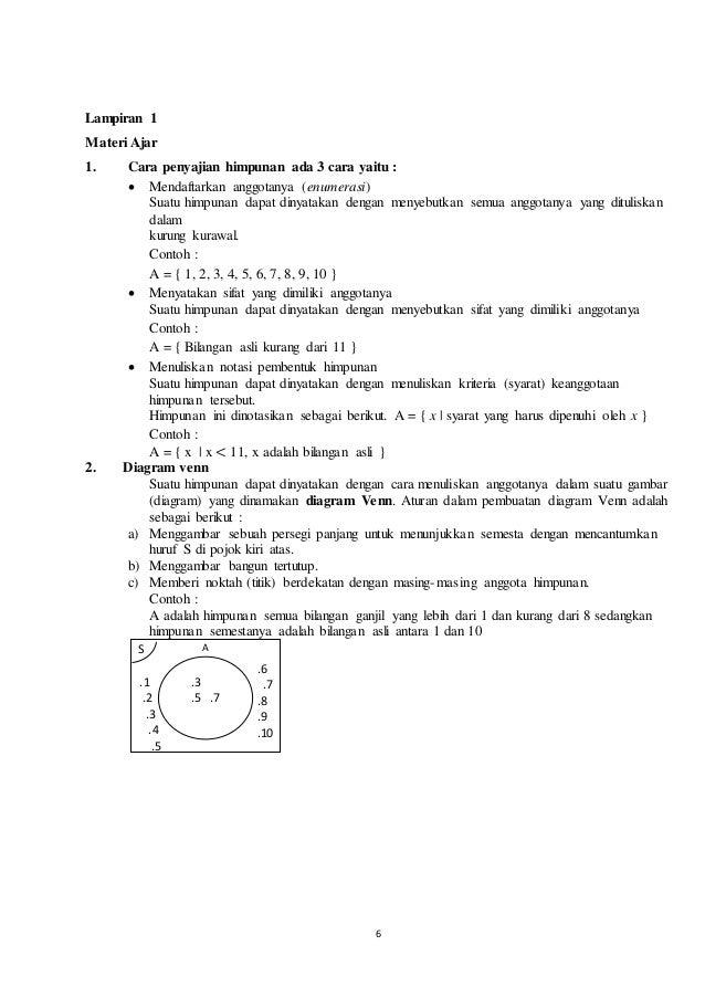 Rpp menyajikan himpunan dan diagram venn kurikulum 2013 a1c111037 6 ccuart Image collections