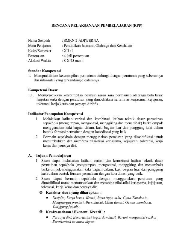 Rpppjoksma Berkarakter Kelas Xii Smstr 1