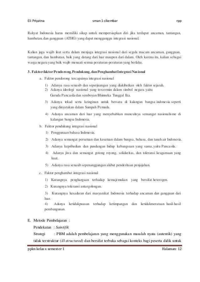 Rpp Ppkn X Bab 7 1516 8 Kali Jp