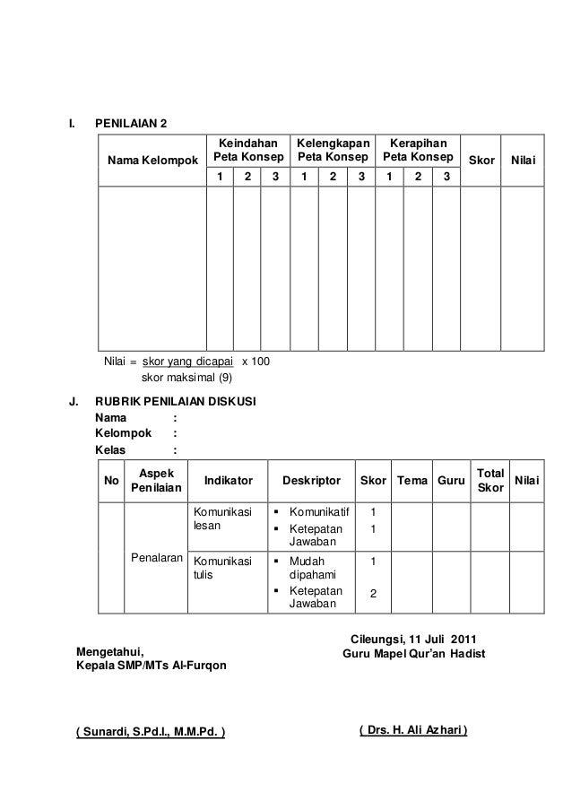 Rpp Quran Hadits Ix Semester 1 Ktsp