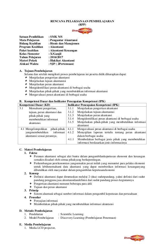 Rpp Akuntansi Smk Kurikulum 2013 Doc Revisi Sekolah