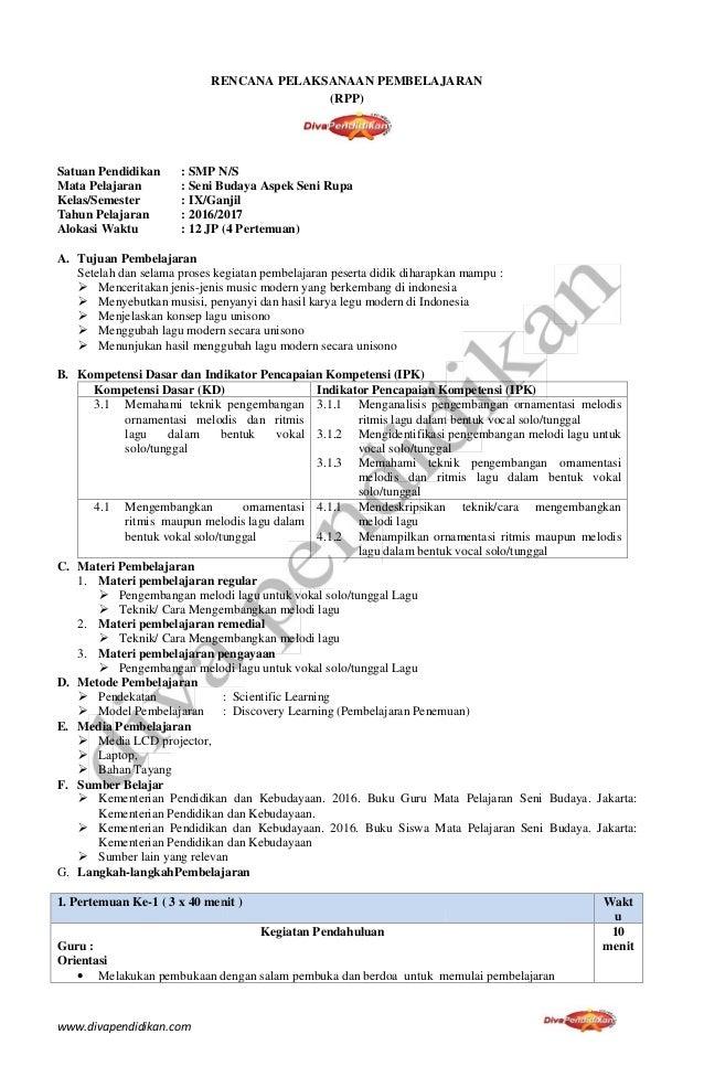 Rencana Pelaksanaan Pembelajaran Rpp Ppkn Smp Kelas Vii Newhairstylesformen2014 Com