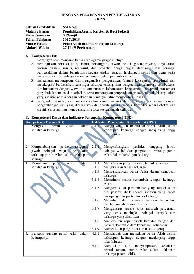 Rpp Revisi 2017 Pak Bp Kelas 11 Sma
