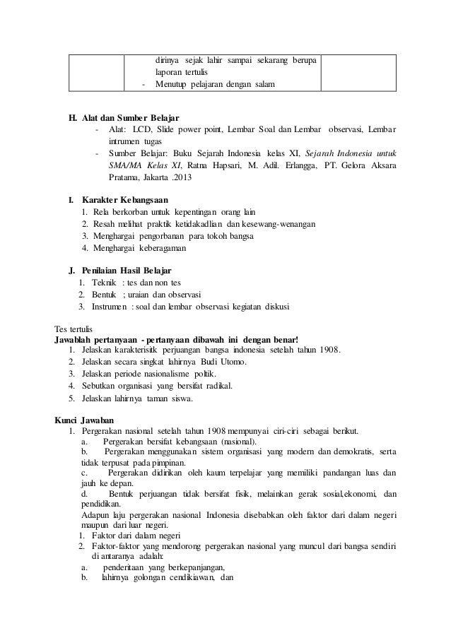 Rpp Sejarah Kelas Xi