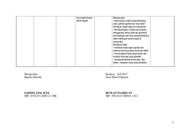 Perangkat Pembelajaran Seni Rupa Smp Mts Kelas 7 Semester Ganjil K13