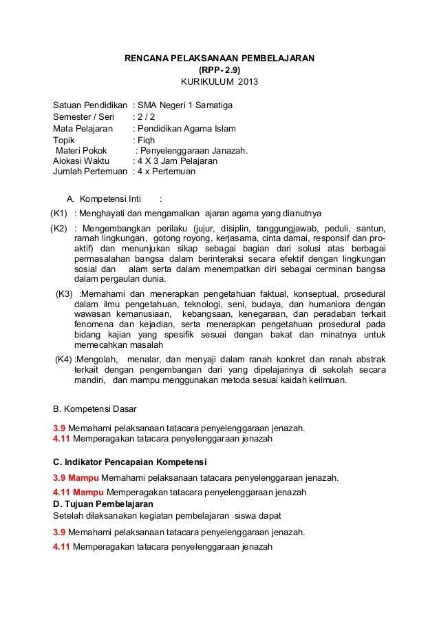 RENCANA PELAKSANAAN PEMBELAJARAN (RPP- 2.9) KURIKULUM 2013 Satuan Pendidikan : SMA Negeri 1 Samatiga Semester / Seri : 2 /...