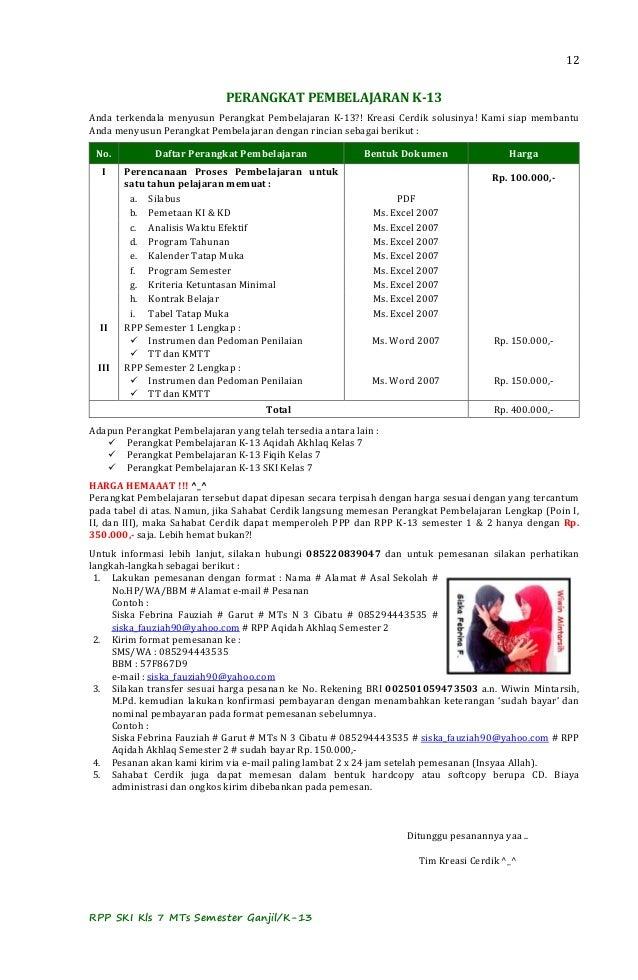Contoh Rpp Ekosistem Kelas 7 Smp Natalpedia