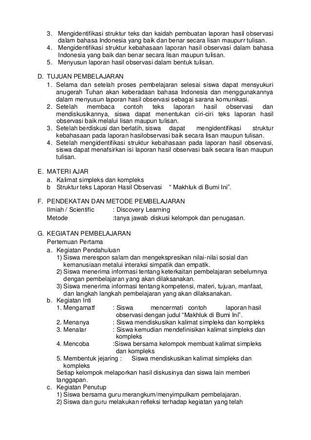 Rpp Sma Bahasa Indonesia Kelas 10 Se 1 Tema Gemar Meneroka Alam Semes