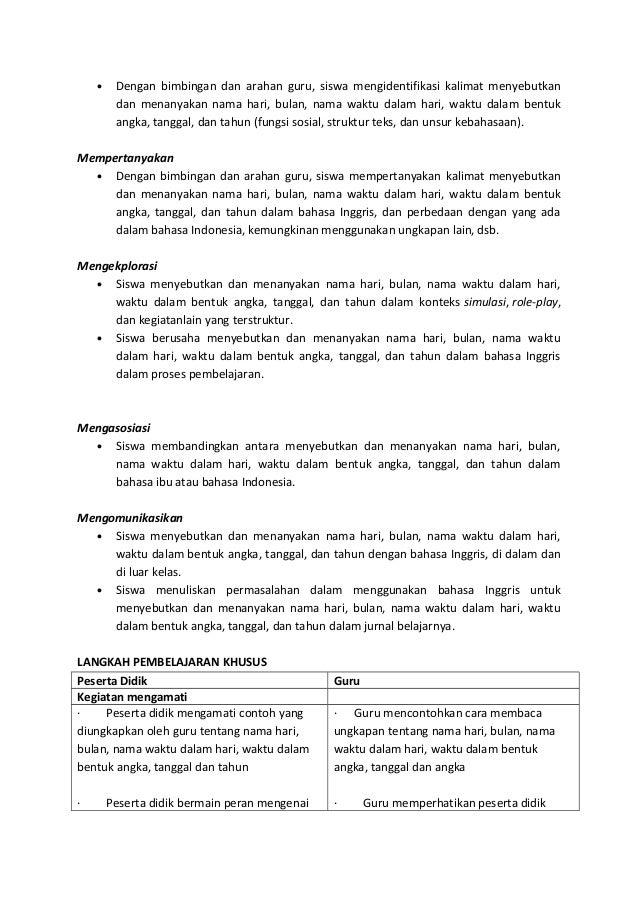 Media Pembelajaran Bahasa Indonesia Kelas Vii Rpp Smp Bahasa Indonesia Kelas Vii Kelas Vii