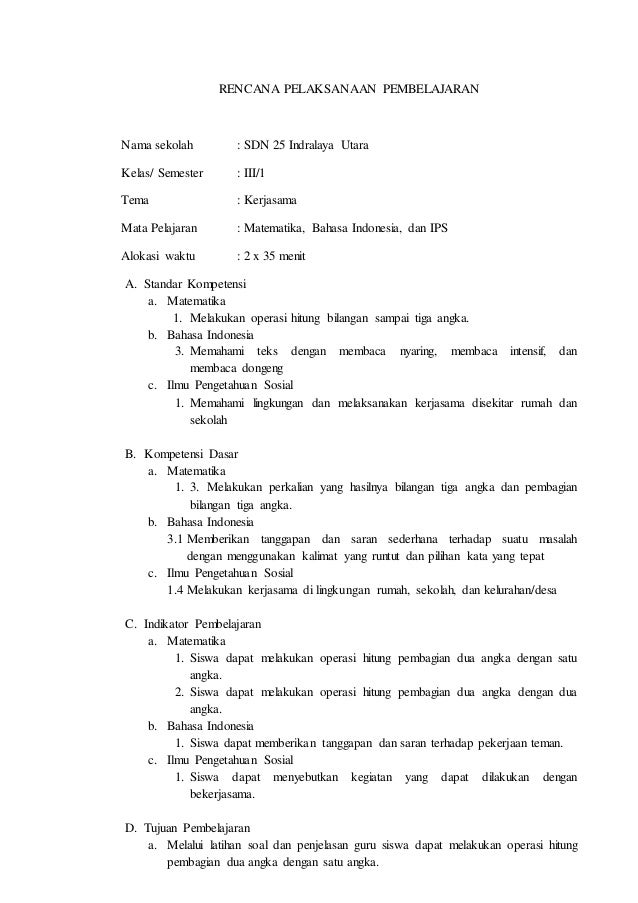 Rpp tematik matematika kelas 3 SD