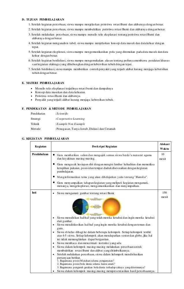 Rpp Sd Kelas 6 Semester 2 K13 Tema 8