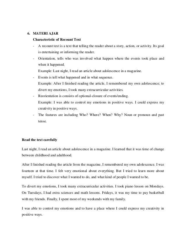 Contoh Soal Recount Text Kelas 8 Contoh Soal Terbaru