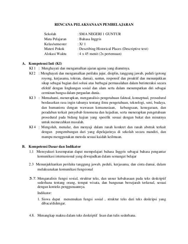 Contoh Rpp Bahasa Inggris Smk Kelas Xi Sem Download Lengkap