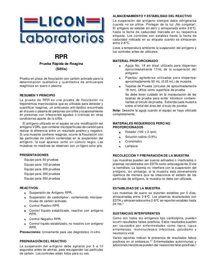 ALMACENAMIENTO Y ESTABILIDAD DEL REACTIVO                                                                 La suspensión de...