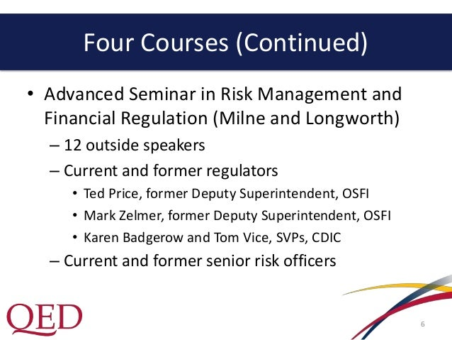 risk policy and regulation graduate diploma