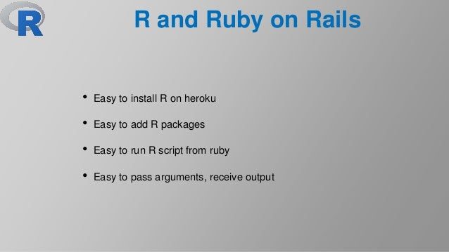R and Ruby on Rails