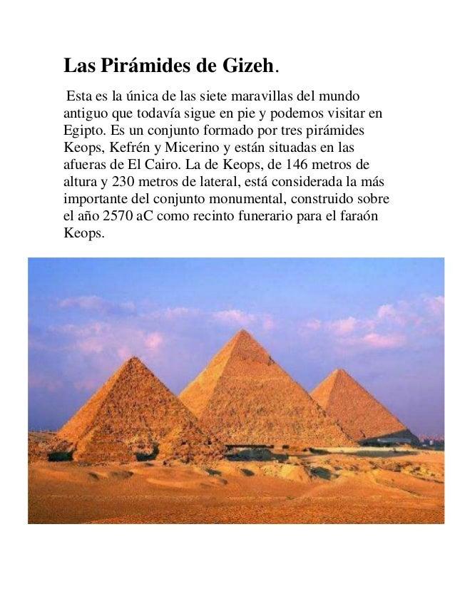 7 maravillas del mundo antiguo for Arquitectura del mundo antiguo