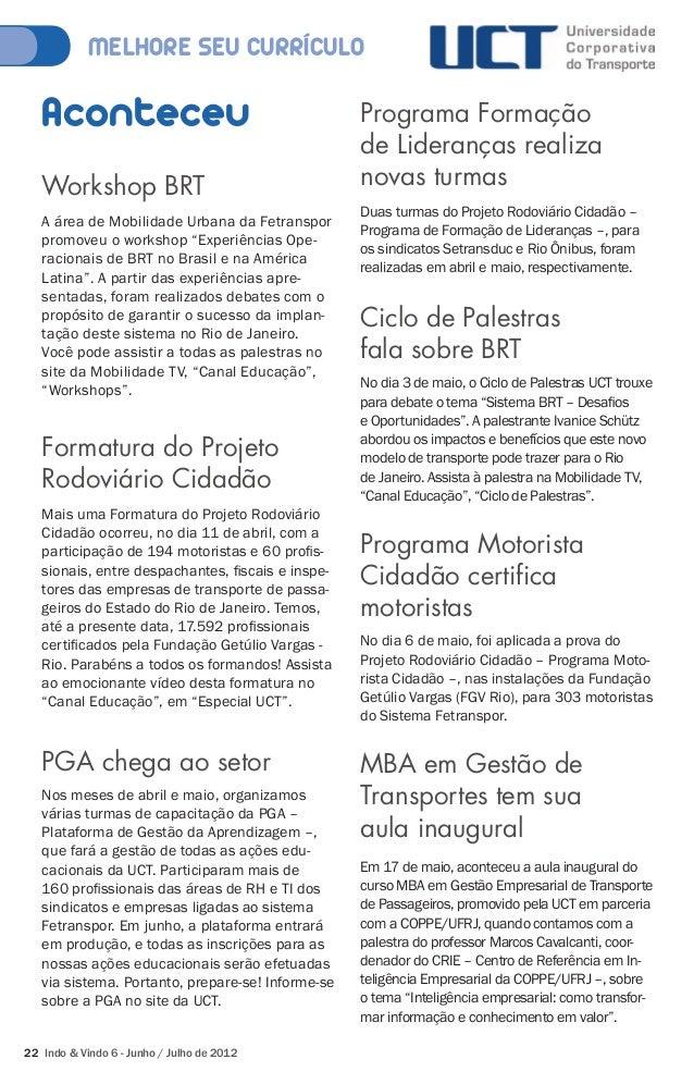 """MELHORE SEU CURRÍCULO  Aconteceu  Workshop BRT  A área de Mobilidade Urbana da Fetranspor  promoveu o workshop """"Experiênci..."""