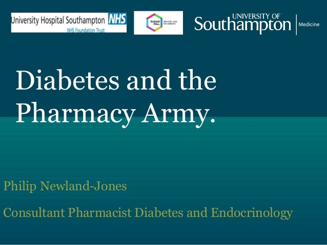 Diabetes and the Pharmacy Army. Philip Newland-Jones Consultant Pharmacist Diabetes and Endocrinology