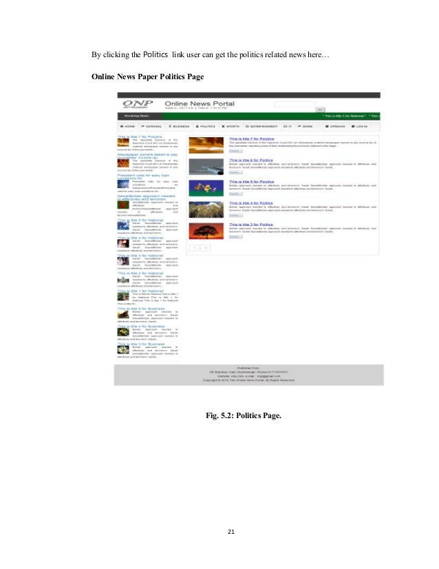 Online news portal system 21 ccuart Gallery