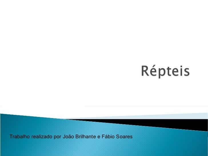 Trabalho realizado por João Brilhante e Fábio Soares