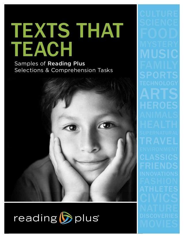 Reading Plus Texts That Teach