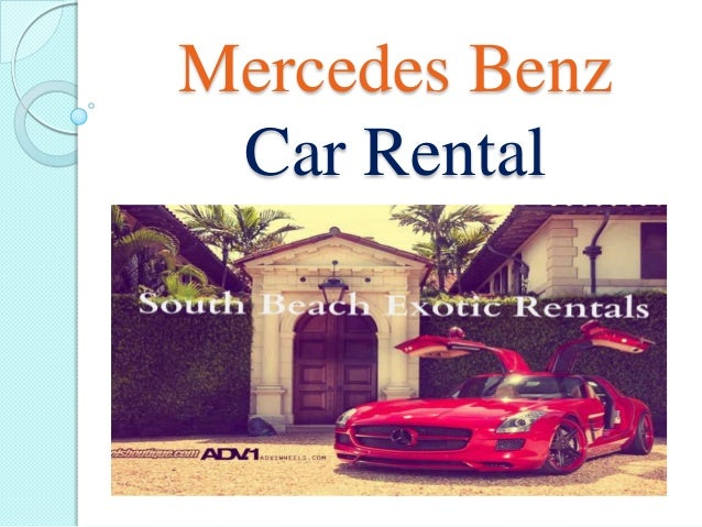 Mercedes Benz Car Rental