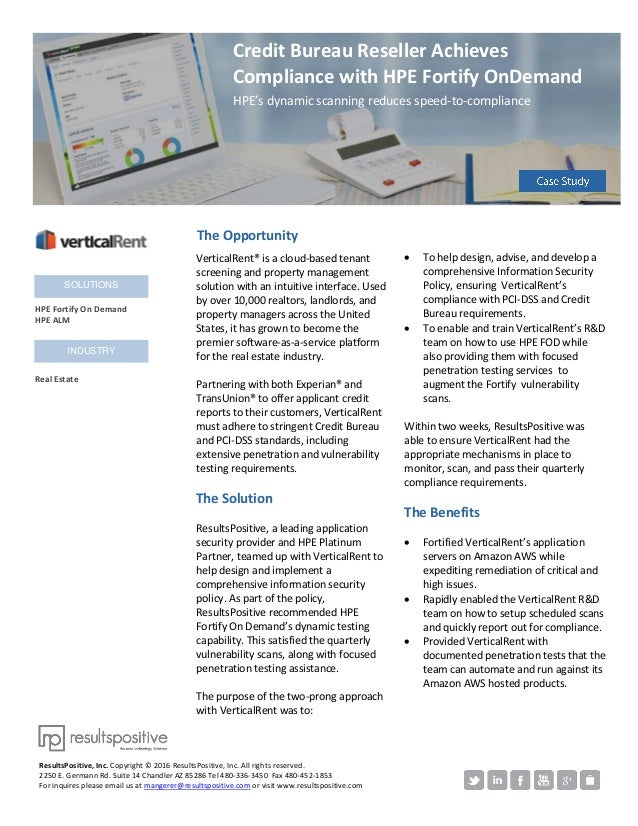 VerticalRent® is a cloud-based tenant screening and property management solution with an intuitive interface. Used by over...