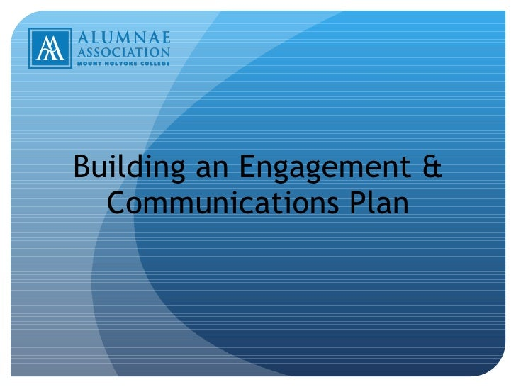 Building an Engagement & Communications Plan