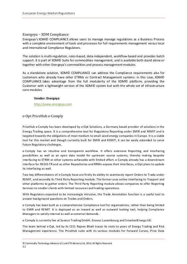European Commodity Market Regulations Part 1