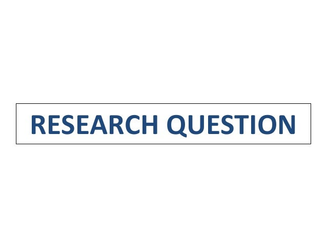 research question versus hypothesis What is the difference between a research question and a research hypothesis state an example within empirical software engineering research.