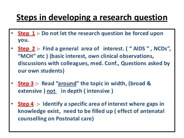 forming a thesis question Developing a research thesis developing a good working thesis, just like developing a good research question (researchable neither too broad nor too narrow), is an important research skill questions or feedback about esc's online writing center.