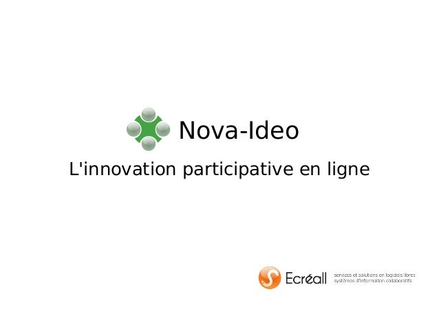 L'innovation participative en ligne Nova-Ideo