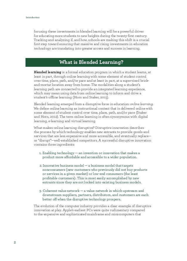 Blended Beyond Borders: A scan of blended learning obstacles