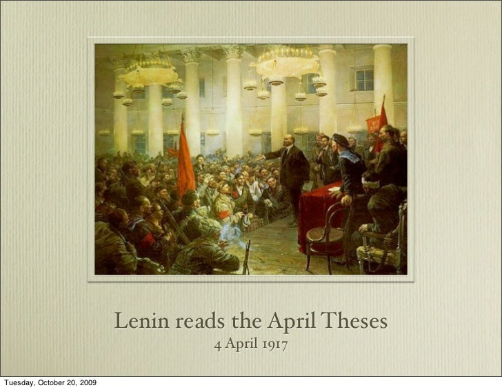 Lenin's april theses significance