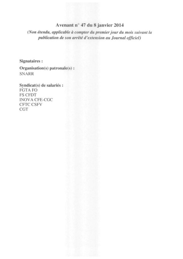 Restauration Rapide : temps partiel et coupure - 2014