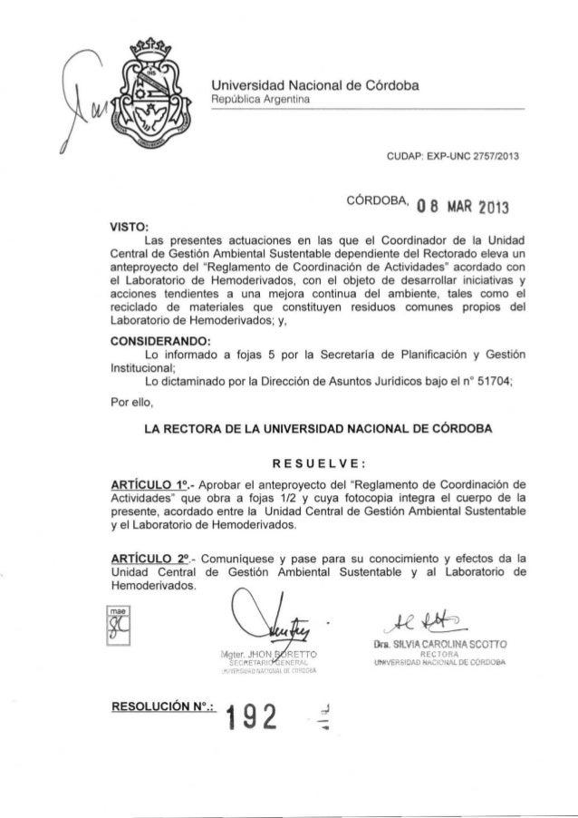 Universidad Nacional de Córdoba                   República Argentina                                                     ...