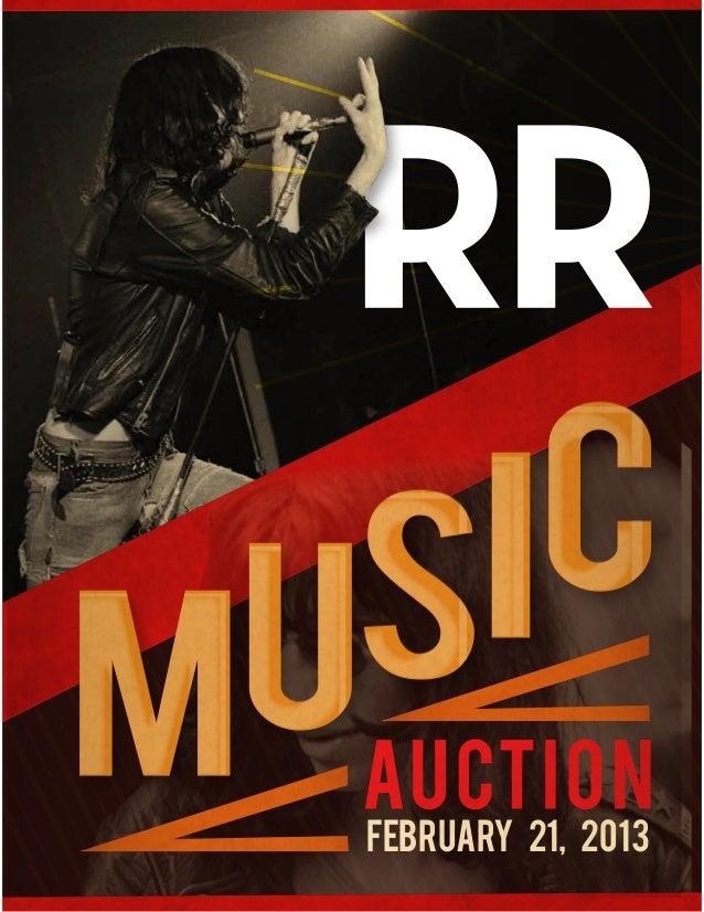 Rr Autograph Auctions Consignment Agreement: RR Auction Music Catalog