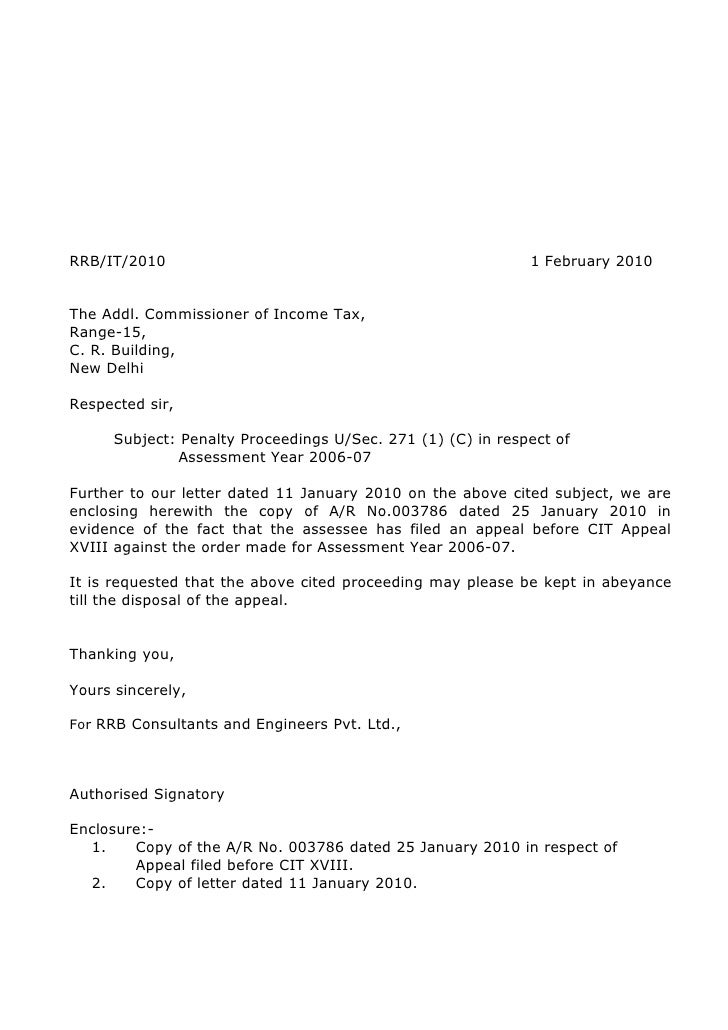 Rrb income tax letters