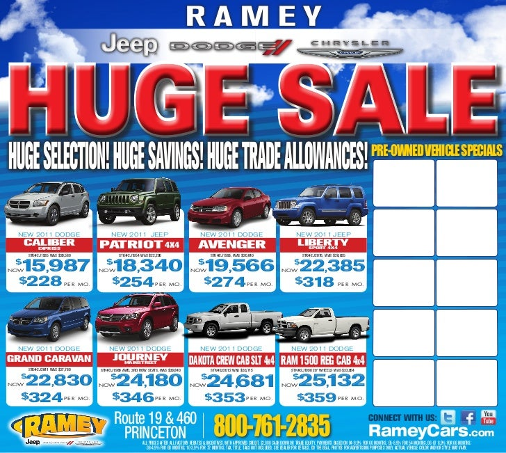 Huge Sale - Ramey Chrysler Jeep Dodge - Princeton, WV